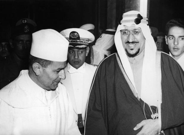 BIO-KING HASSAN II-SULTAN MUHAMMAD IBN YOUSUF-KING SAUD