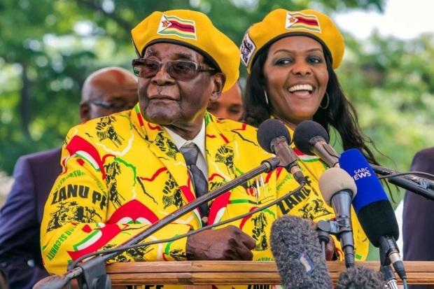 Mugabe et Grace Mugabe