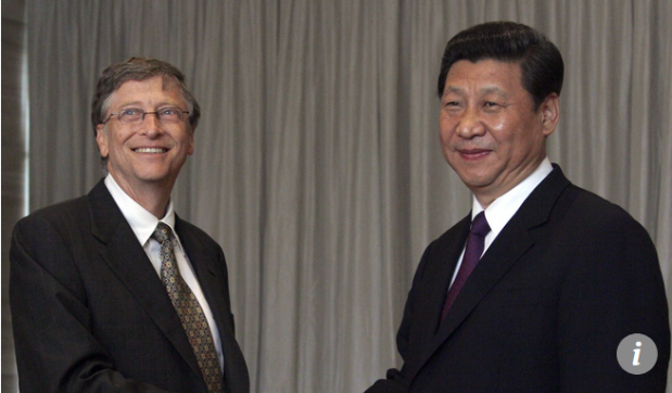 Capture Bill Gates et Xi Jinping