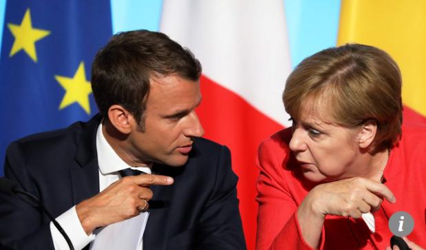 Capture Le président français Emmanuel Macron et la chancelière allemande Angela Merkel