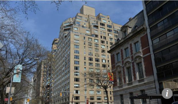 Capture Résidences sur la cinquième avenue dans l'Upper East Side de Manhattan