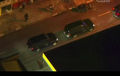 Lula conduit dans des voitures blindées 1