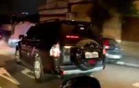 Lula conduit dans des voitures blindées 2