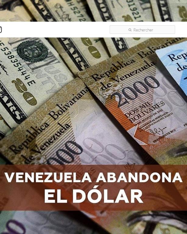 Venezuela abandonne le dollar