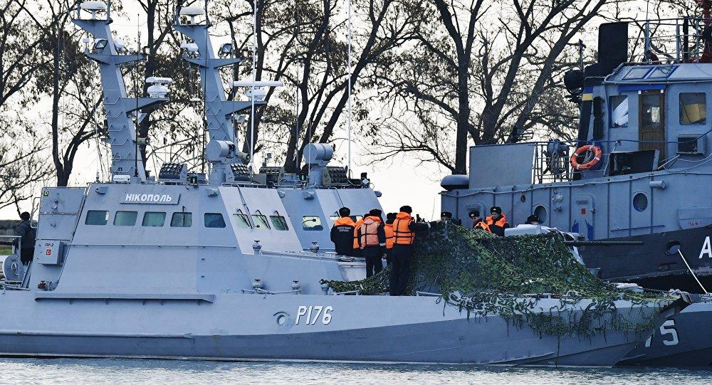 """Résultat de recherche d'images pour """"RUSSIE-Crimée/UKRAINE : Provocation de navires de guerre ukrainiens dans le détroit de Kertch, 2018"""""""