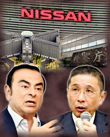 Capture Ghosn et Saikawa
