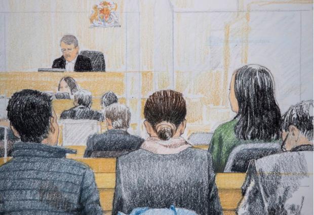 Capture Meng au Tribunal Canadien Huawei