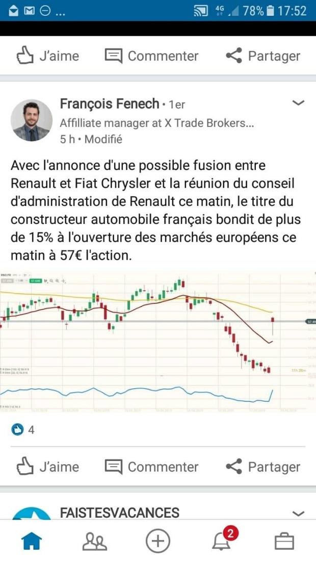 Hausse titre Renault