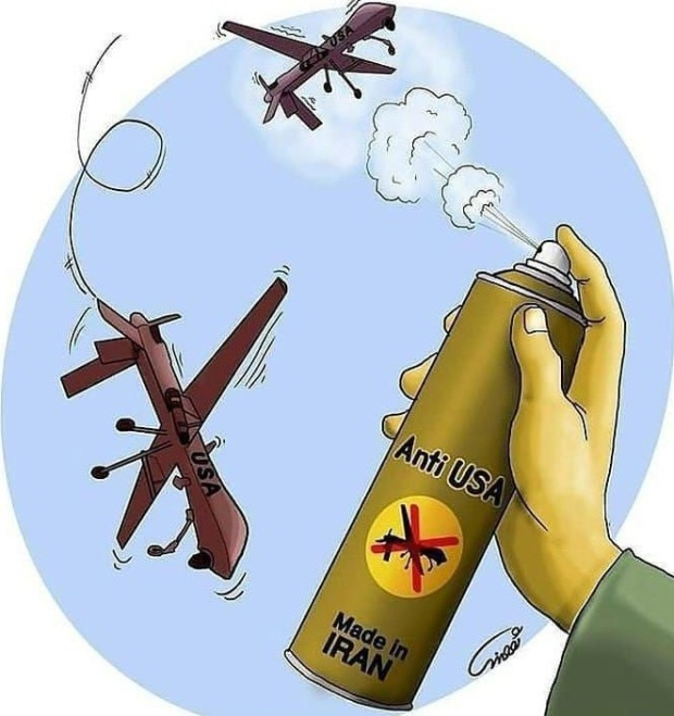 Drone USA pulvérisé